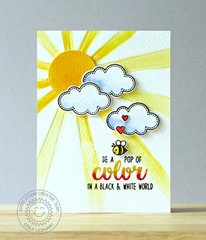 Sunny Studio Sunray Pop of Color Card by Emily Leiphart