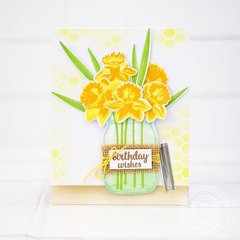 Sunny Studio Daffodil Dreams Card by Lexa Levana