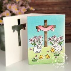 Sunny Studio Easter Wishes Cross Tri-fold Card by Amy Yang