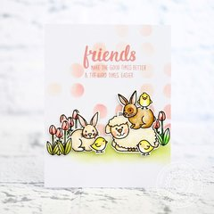 Sunny Studio Easter Wishes Card by Lexa Levana
