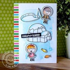 Sunny Studio Stamps Eskimo Kisses Card by Eloise Blue