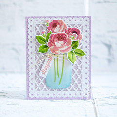 Sunny Studio Stamps Everything's Rosy Rose Card by Lexa Levana
