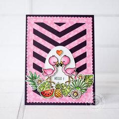 Sunny Studio Stamps Fabulous Flamingos Card by Lexa Levana