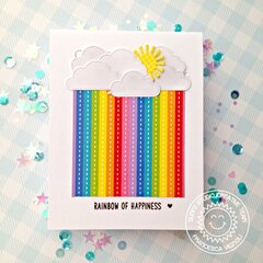 Sunny Studio Stamps Rainbow of Happiness Card by Franci
