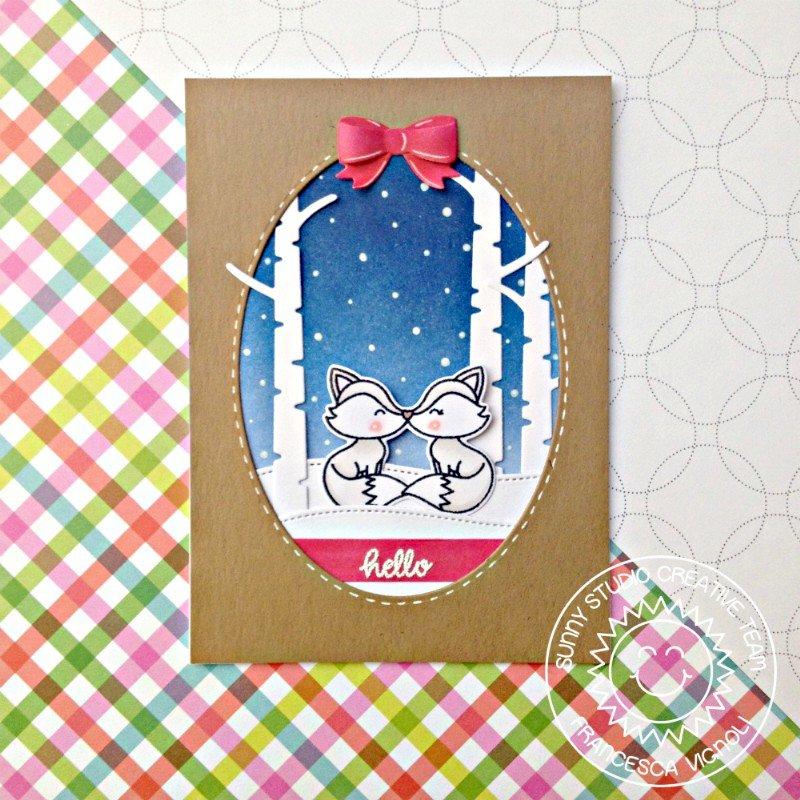 Sunny Studio Stamps Foxy Christmas Card by Francesca Vignoli