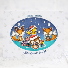 Sunny Studio Stamps Foxy Christmas Card by Lexa Levana