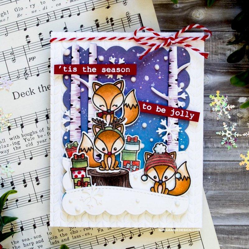Sunny Studio Stamps Foxy Christmas Card by Nina Marie Trapani