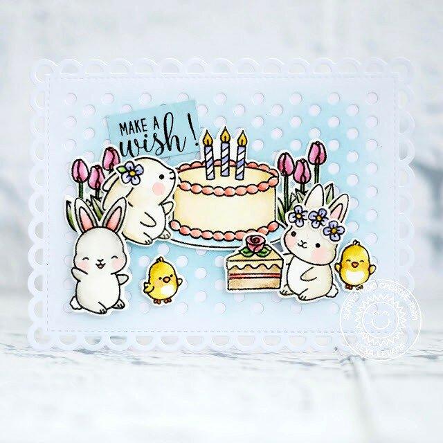 Sunny Studio Stamps Chubby Bunny Card by Lexa Levana