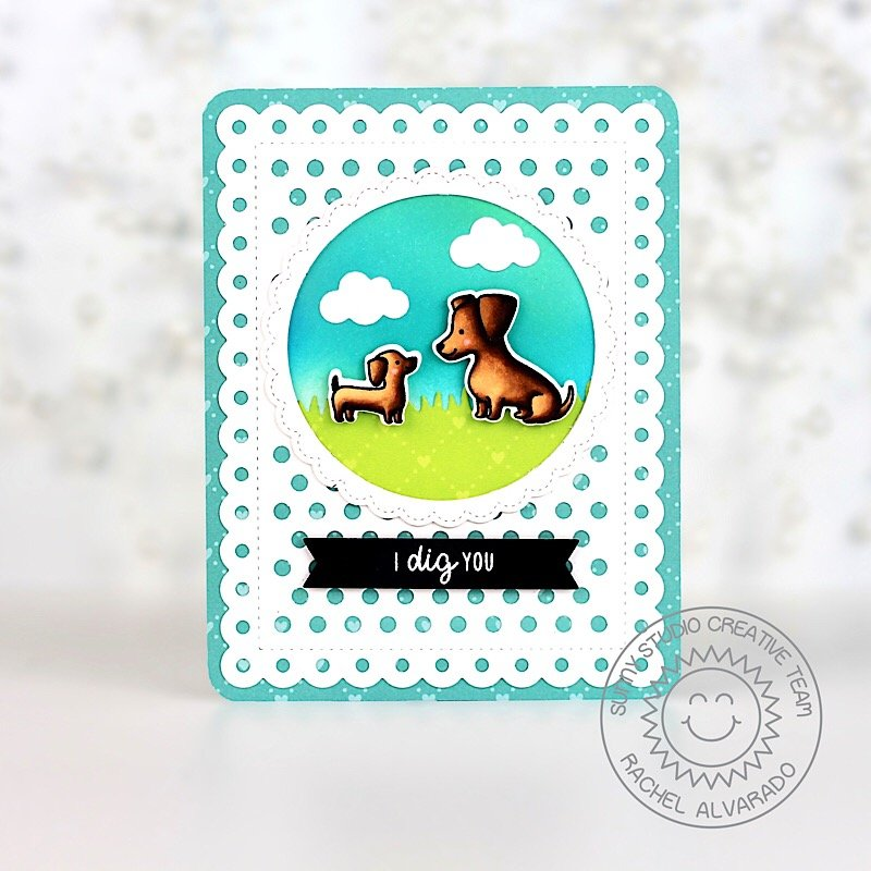 Sunny Studio Stamps Puppy Parents Card by Rachel Alvarado