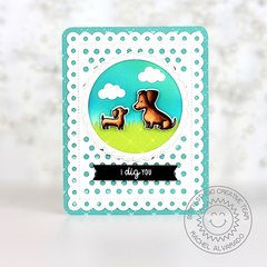 Sunny Studio Stamps Puppy Parents Card by Rachel Alvarado
