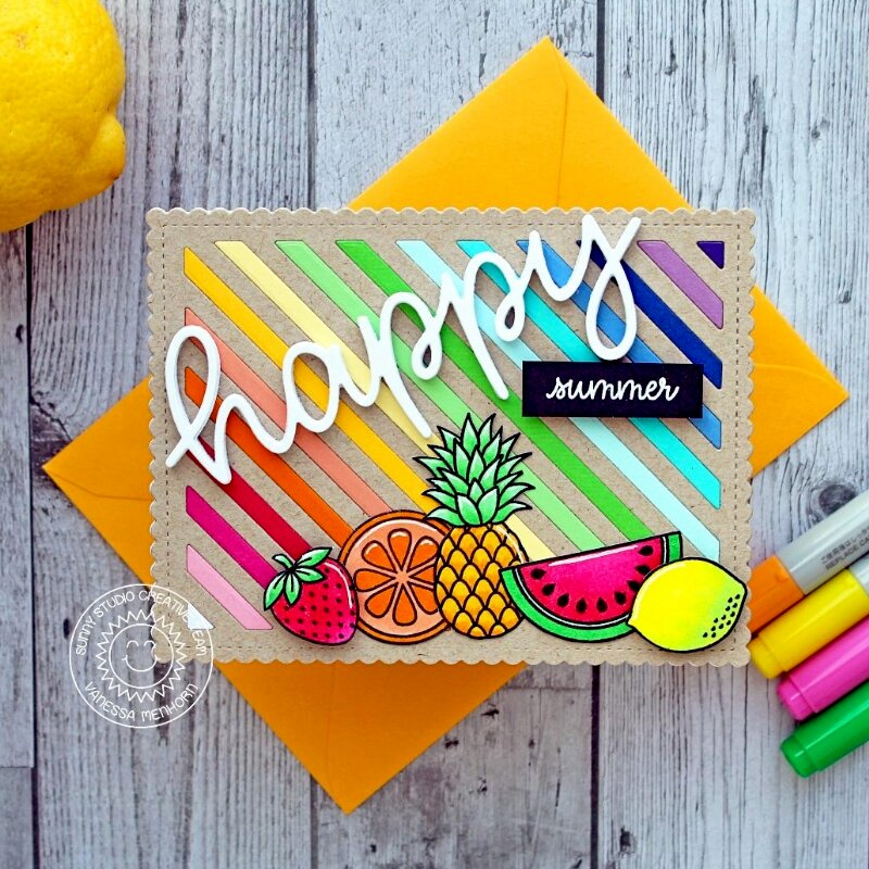 Sunny Studio Stamps Fresh & Fruity Card by Vanessa Menhorn