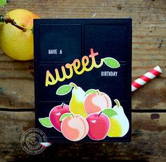 Sunny Studio Stamps Fruit Birthday Card by Vanessa Menhorn