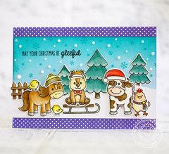 Sunny Studio Christmas On The Farm Card by Lexa Levana