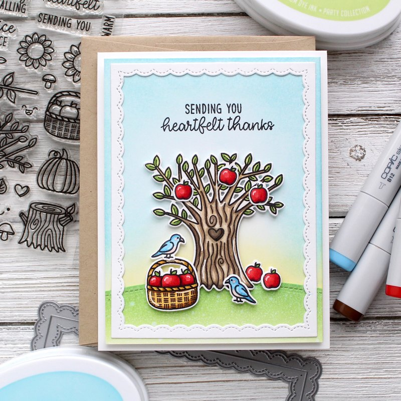 Sunny Studio Stamps Happy Harvest Card by Leanne West