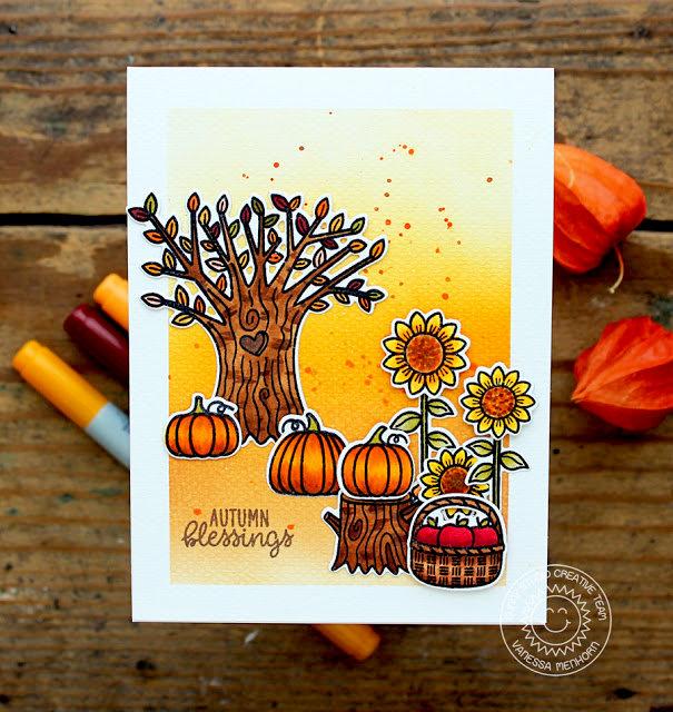 Sunny Studio Stamps Happy Harvest Card by Vanessa Menhorn
