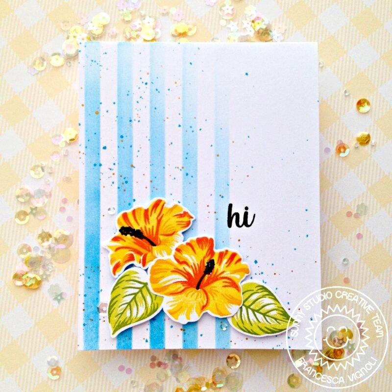 Sunny Studio Stamps Hawaiian Hibiscus Card by Franci