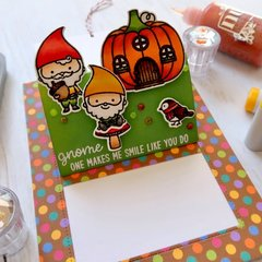 Sunny Studio Stamps Home Sweet Gnome Pop-up Card by Laura Sterckx