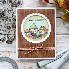 Sunny Studio Stamps Home Sweet Gnome Card by Leanne West