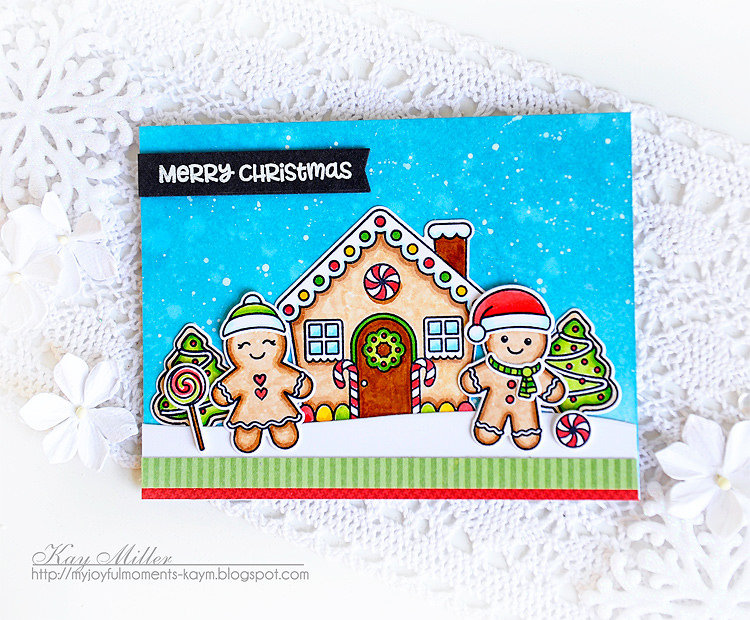 Sunny Studio Jolly Gingerbread Card by Kay Miller