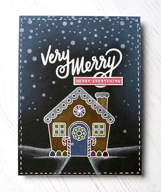 Sunny Studio Jolly Gingerbread Card by Kristina Werner