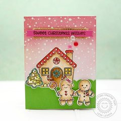 Sunny Studio Jolly Gingerbread Card by Lexa Levana