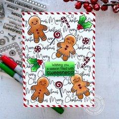 Sunny Studio Jolly Gingerbread Card by Vanessa Menhorn