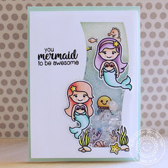 Sunny Studio Stamps Magical Mermaids Shaker Card by Eloise