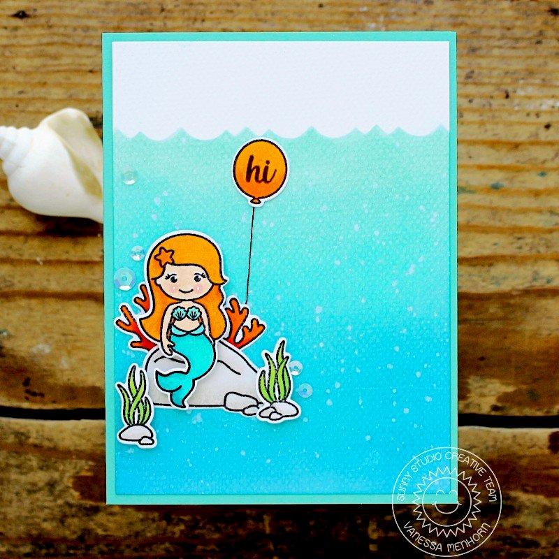Sunny Studio Stamps Magical Mermaids Card by Vanessa Menhorn