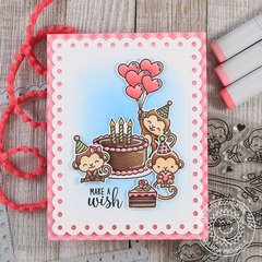 Sunny Studio Stamps Love Monkey Card by Juliana Michaels