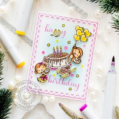 Sunny Studio Stamps Love Monkey Card by Mona Tóth