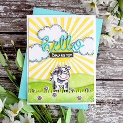 Sunny Studio Stamps Miss Moo Cow Card by