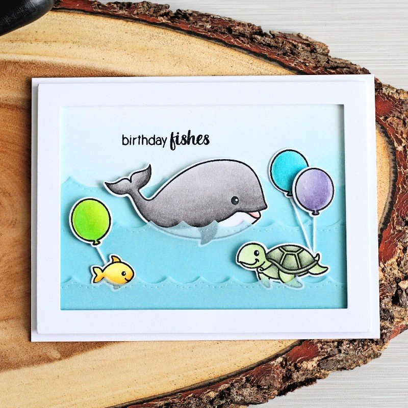 Sunny Studio Stamps Oceans of Joy Card by Michelle Short