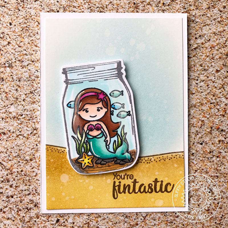 Sunny Studio Mermaid in a Jar Card by Amy Yang