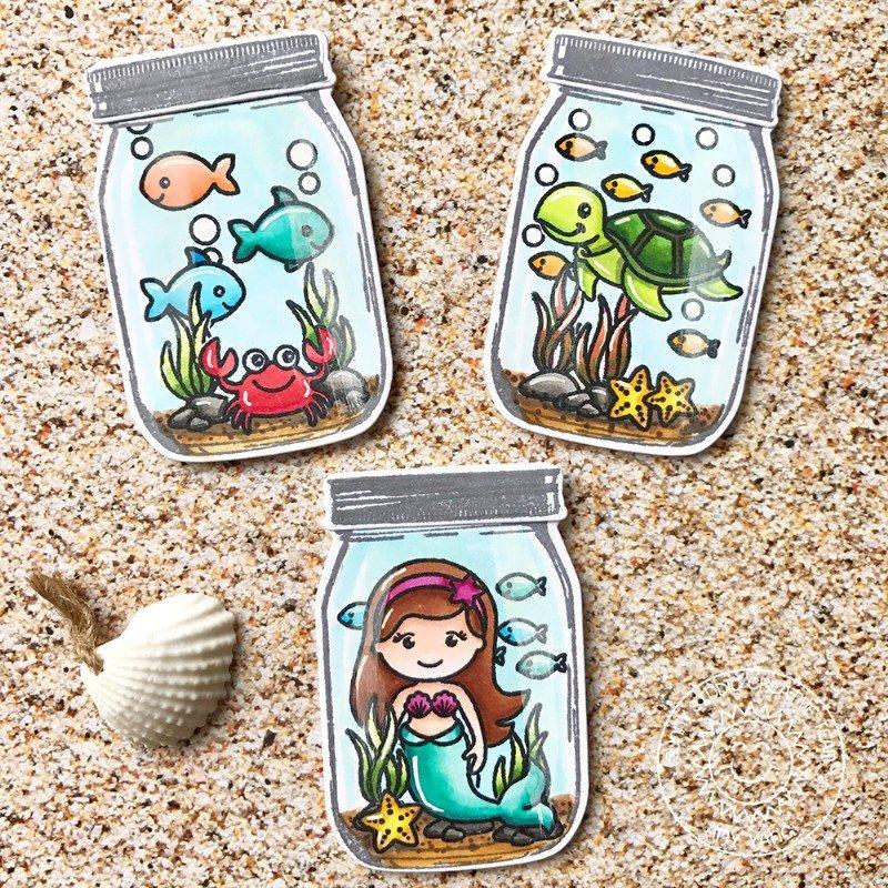 Sunny Studio Ocean Jar Card by Amy Yang