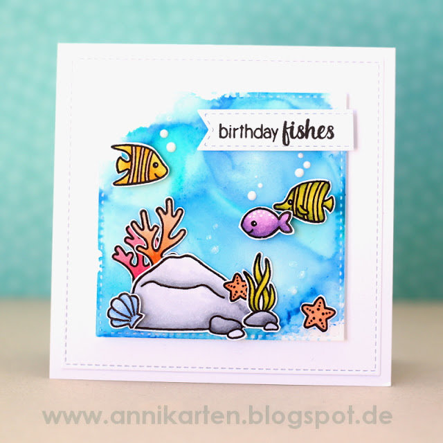 Sunny Studio Stamps Oceans of Joy Card Set by Anni Lerche