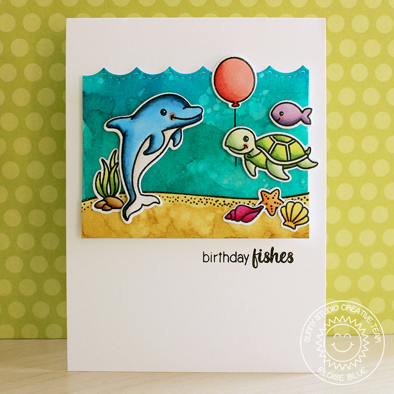 Sunny Studio Stamps Oceans of Joy Card by Eloise Blue