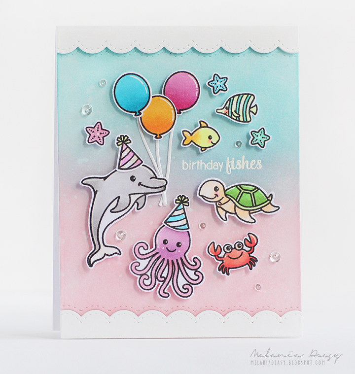 Sunny Studio Oceans of Joy Card by Melania Deasy
