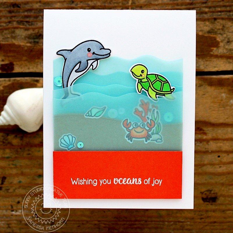 Sunny Studio Stamps Oceans of Joy Card by Vanessa Menhorn