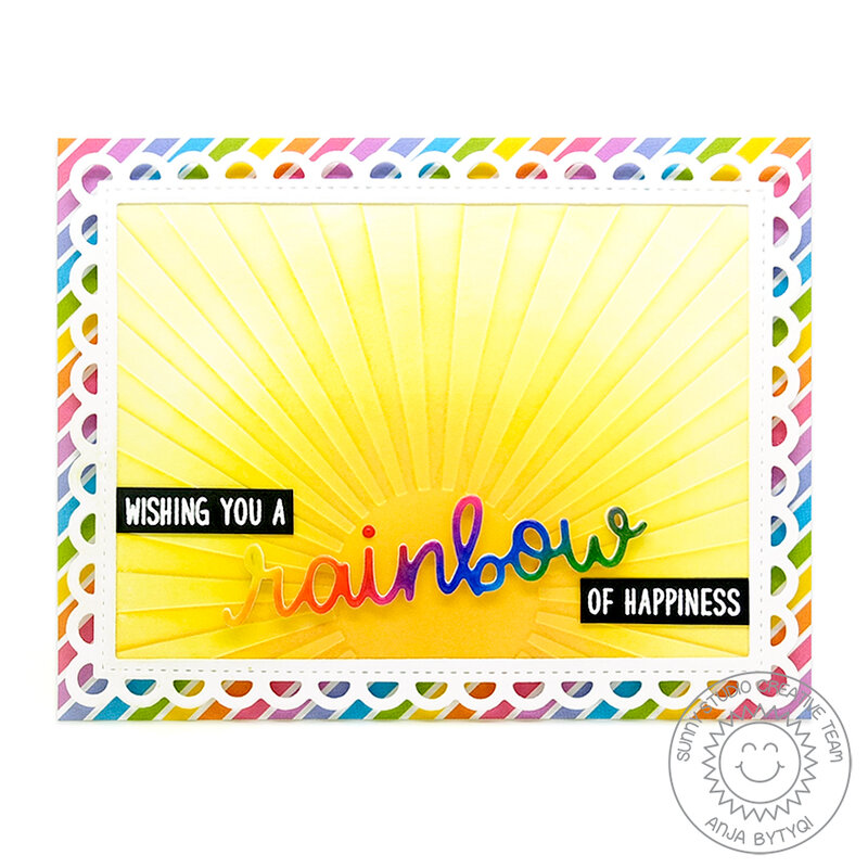 Sunny Studio Stamps Over The Rainbow Card by Anja Bytyqi