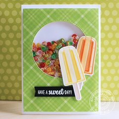 Sunny Studio Stamps Perfect Popsicles Shaker Card by Eloise Blue