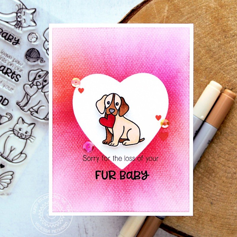 Sunny Studio Pet Sympathy Card by Vanessa Menhorn
