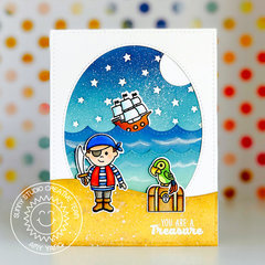 Sunny Studio Stamps Pirate Pals card by Amy Yang