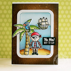 Sunny Studio Stamps Pirate Pals Encouragement Card by Eloise Blue