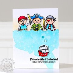 Sunny Studio Stamps Pirate Pals card by Nancy Damiano