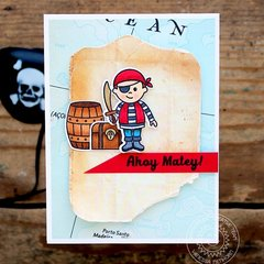 Sunny Studio Stamps Pirate Pals card by Vanessa Menhorn