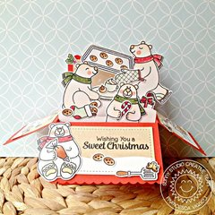 Sunny Studio Playful Polar Bears Card by Francesca Vignoli