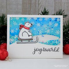 Sunny Studio Playful Polar Bears Card by Juliana Michaels