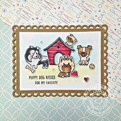 Sunny Studio Stamps Puppy Dog Kisses Card by Francesca Vignoli