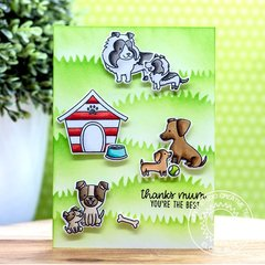 Sunny Studio Stamps Puppy Parents Card by Eloise Blue