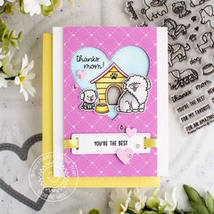 Sunny Studio Stamps Puppy Parents Card by Leanne West